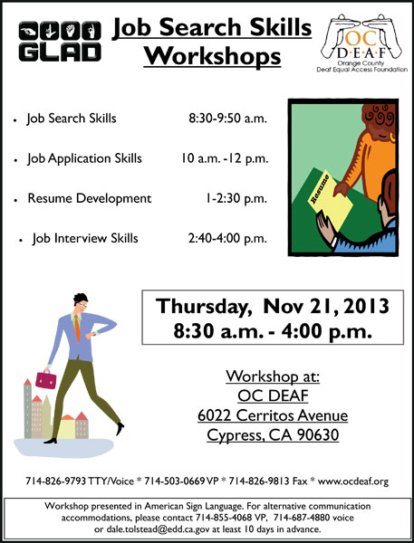 Job Search Skills Workshops - Nov 21 2013
