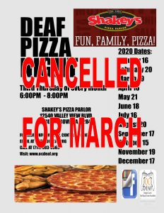 PIZZA NIGHT CANCELLED